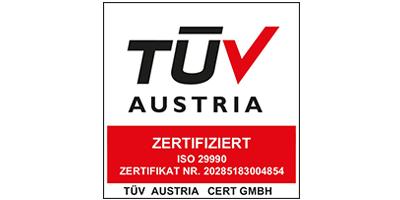 TÜV-Zertifizierung nach ISO 29990